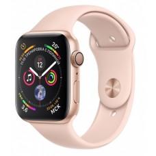 Apple Watch Series 4, 44 мм, корпус из золотистого алюминия, спортивный ремешок цвета «розовый песок»